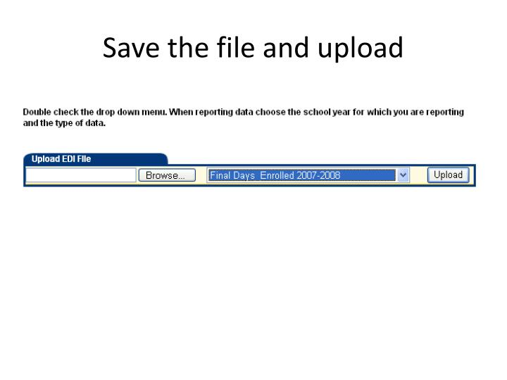 Save the file and upload