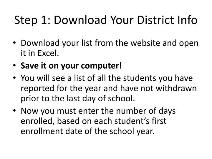 Step 1: Download Your District Info