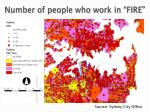number of people who work in fire