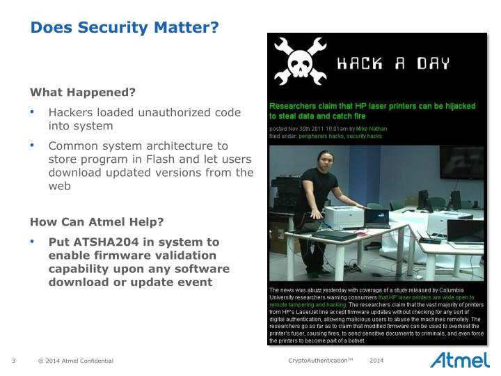 Does security matter