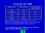 gravity for 300