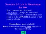 newton s 3 rd law momentum for 300