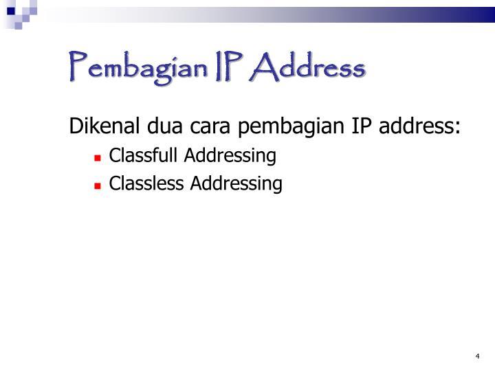 Pembagian IP Address
