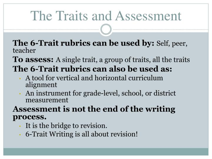 The Traits and Assessment