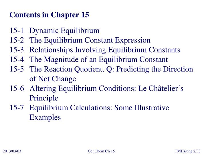 Contents in Chapter 15