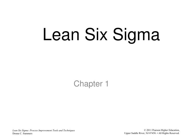 PPT - Lean Six Sigma PowerPoint Presentation - ID:3111382