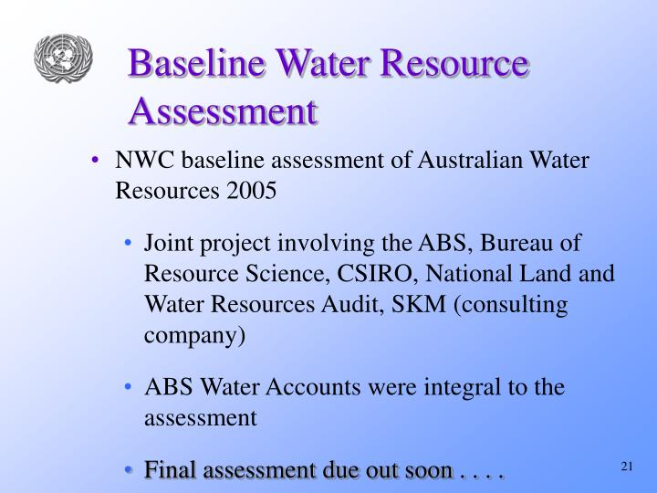 Baseline Water Resource Assessment