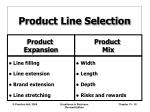 product line selection