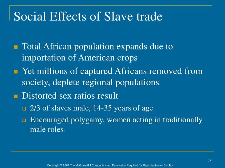 Social Effects of Slave trade