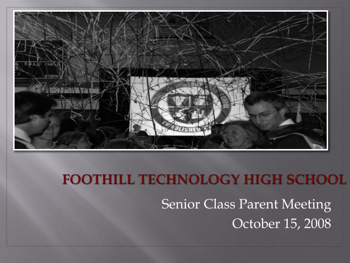 foothill technology high school n.