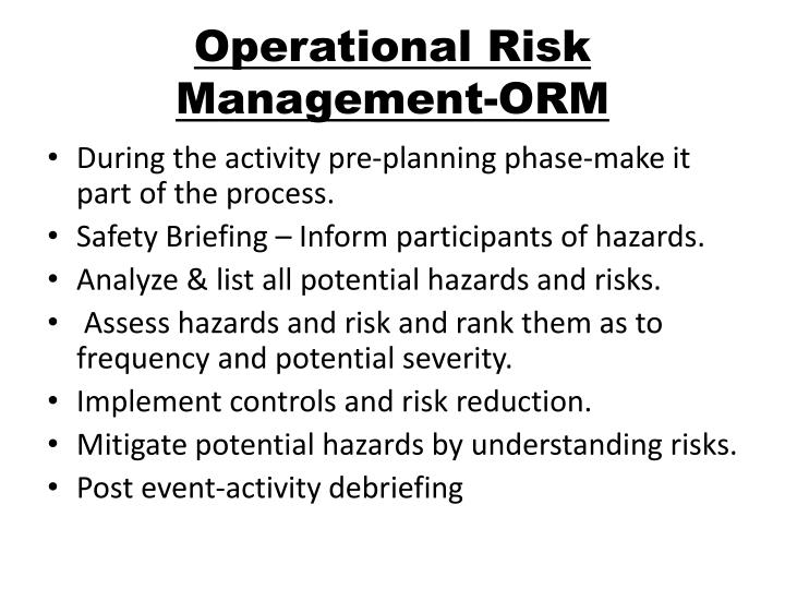 Operational Risk Management-ORM