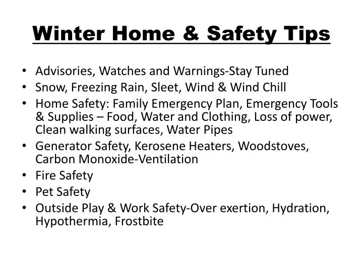 Winter Home & Safety Tips