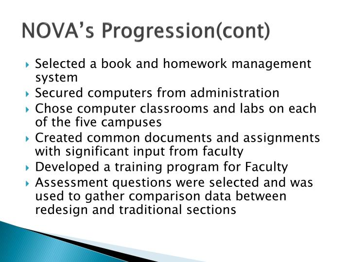 NOVA's Progression(cont)