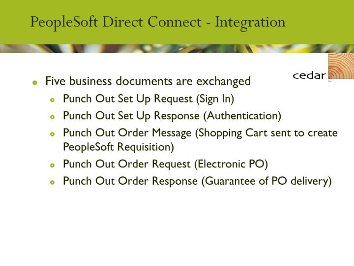 PeopleSoft Direct Connect - Integration
