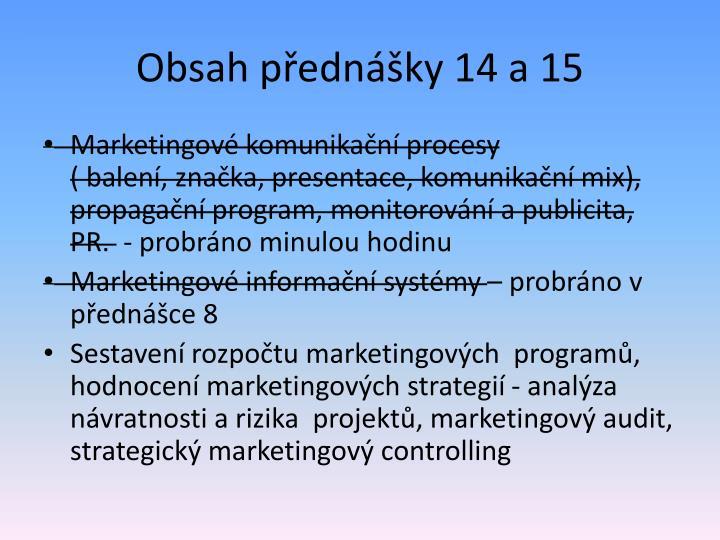 Obsah p edn ky 14 a 15
