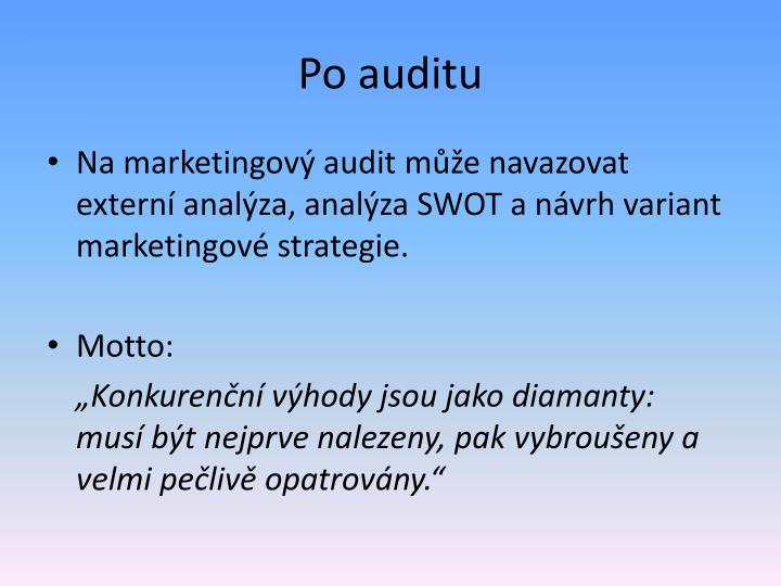 Po auditu