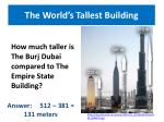 the world s tallest building1