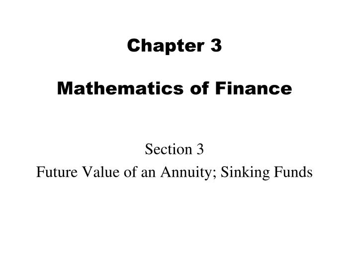chapter 1 3 finance