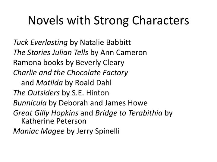 Novels with Strong Characters