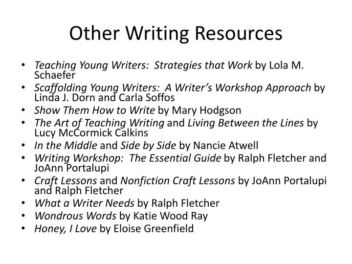 Other Writing Resources