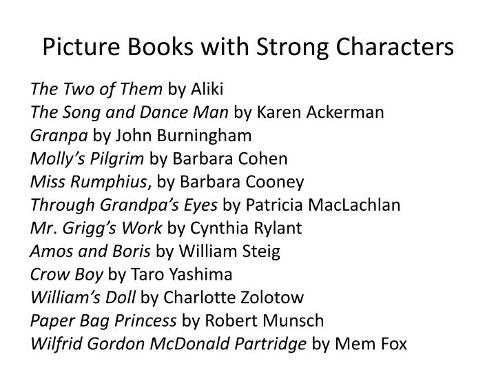 Picture Books with Strong Characters