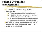 forces of project management