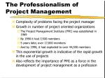 the professionalism of project management