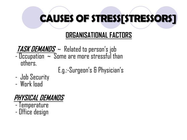 task demands stress