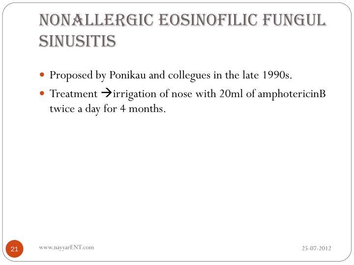 Nonallergic eosinofilic fungul sinusitis