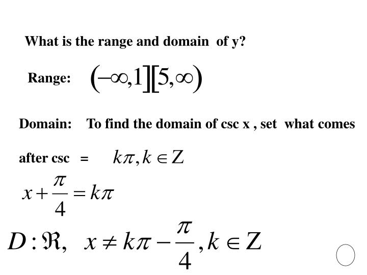 What is the range and domain  of y?