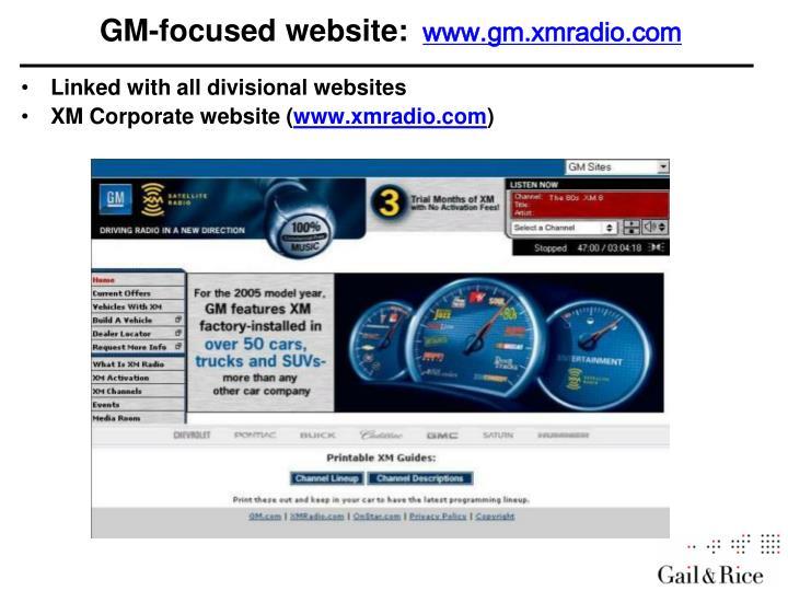 GM-focused website: