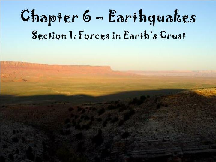 chapter 6 earthquakes n.