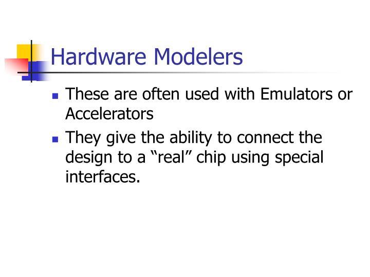 Hardware Modelers