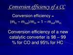 conversion efficiency of a cc