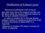 purification of exhaust gases