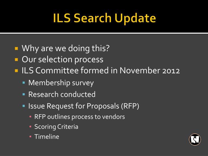 ILS Search Update