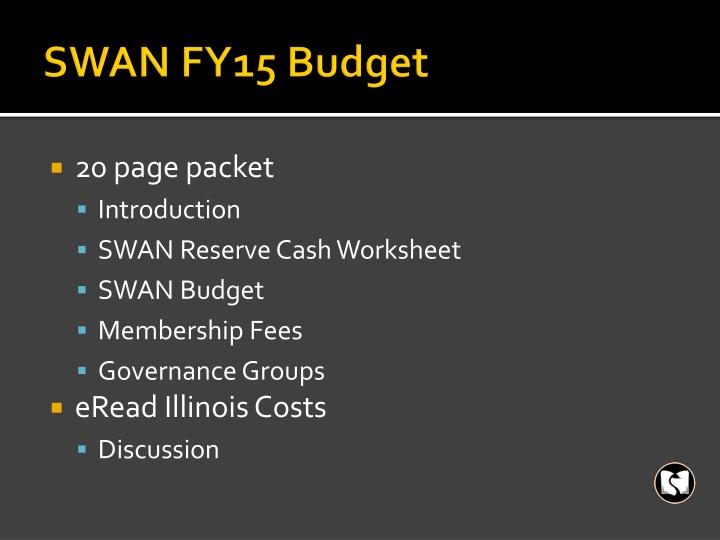 Swan fy15 budget