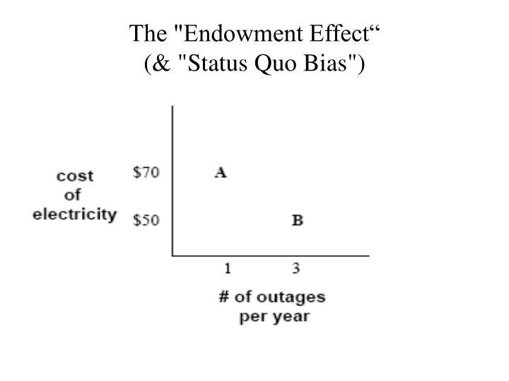 "The ""Endowment Effect"""