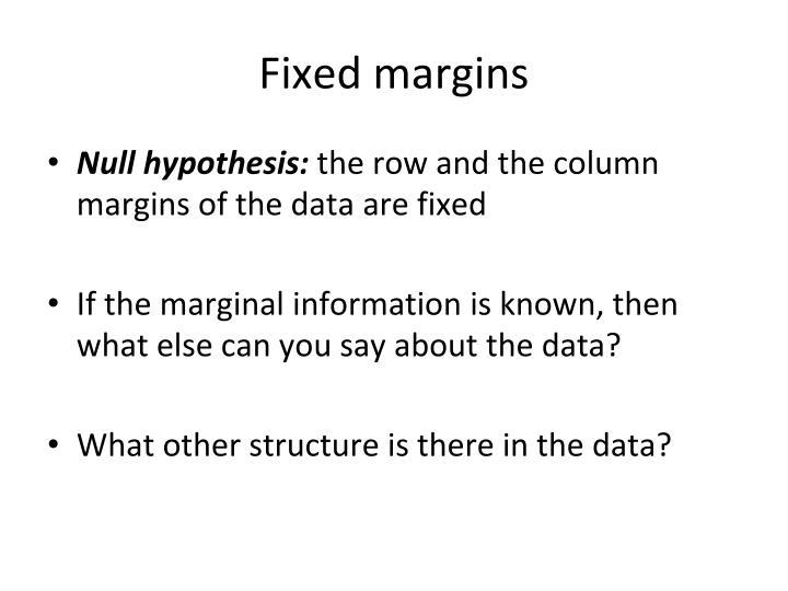 Fixed margins