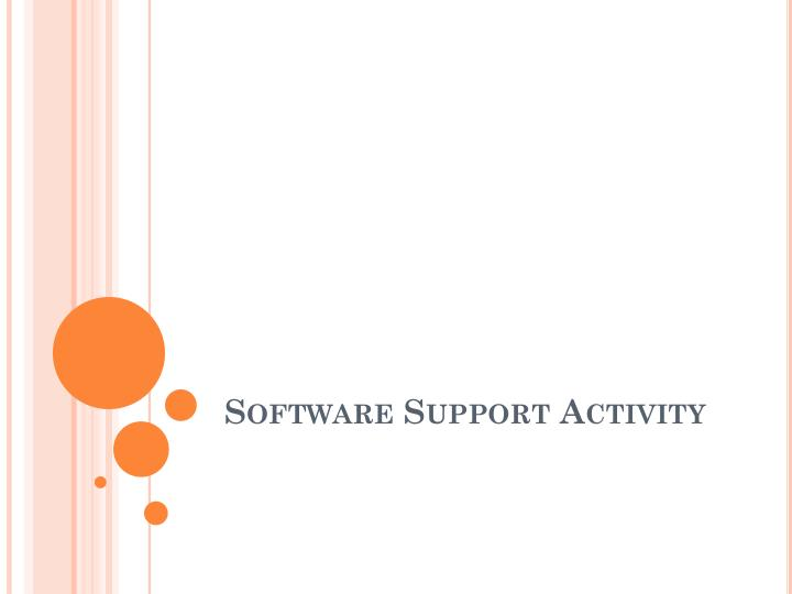 Software support activity