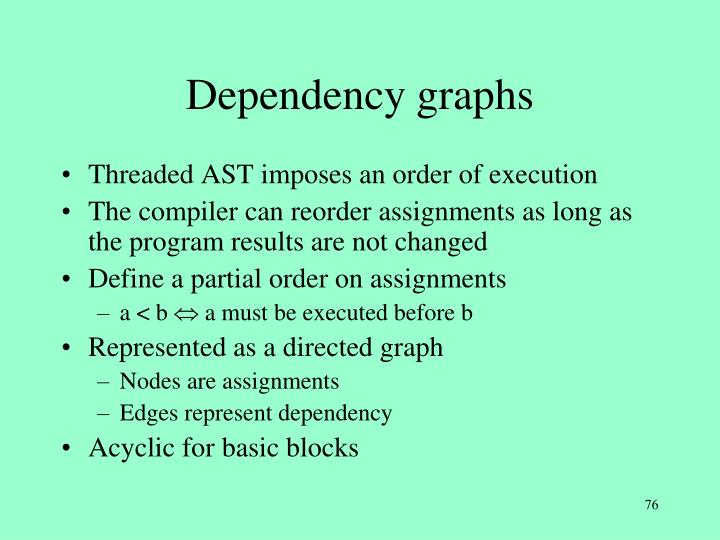 Dependency graphs