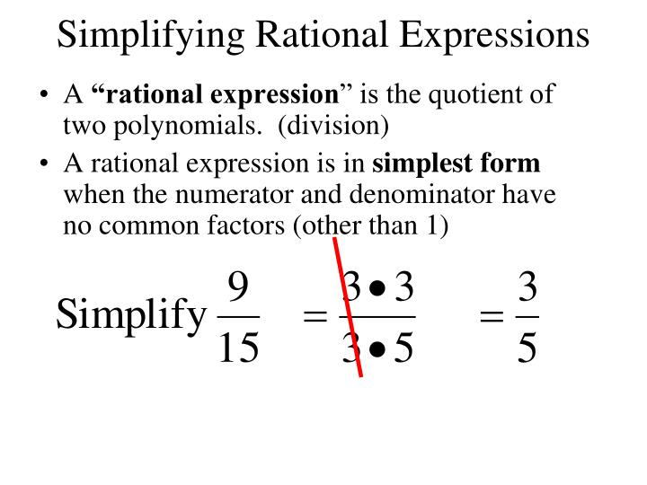 Simplifying rational expressions1