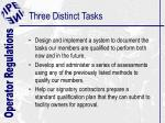 three distinct tasks