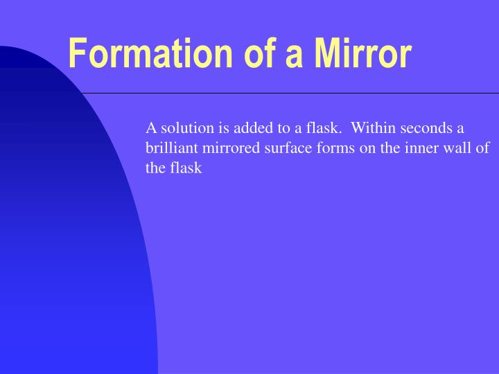 formation of a mirror n.