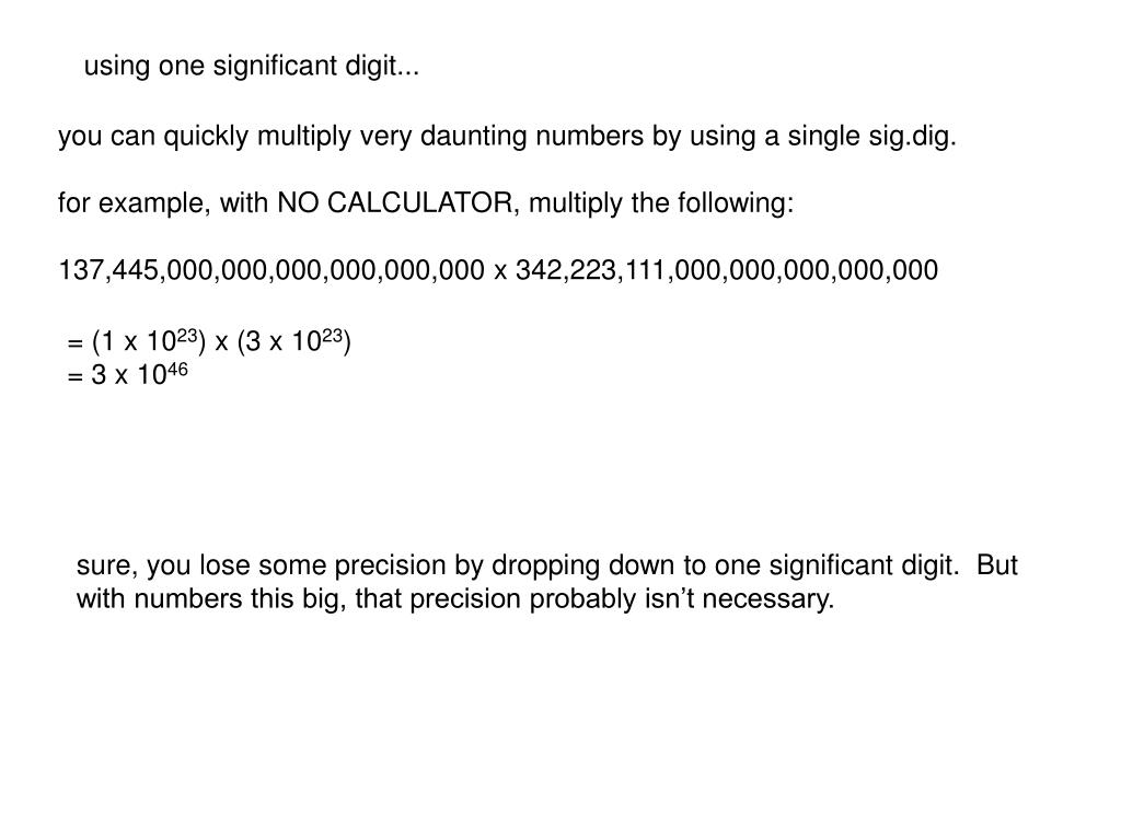 PPT - Scientific notation and significant digits PowerPoint