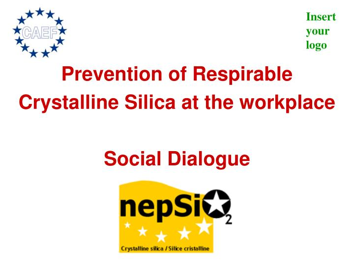 prevention of respirable crystalline silica at the workplace social dialogue n.