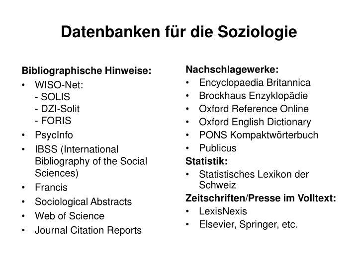 Bibliographische Hinweise: