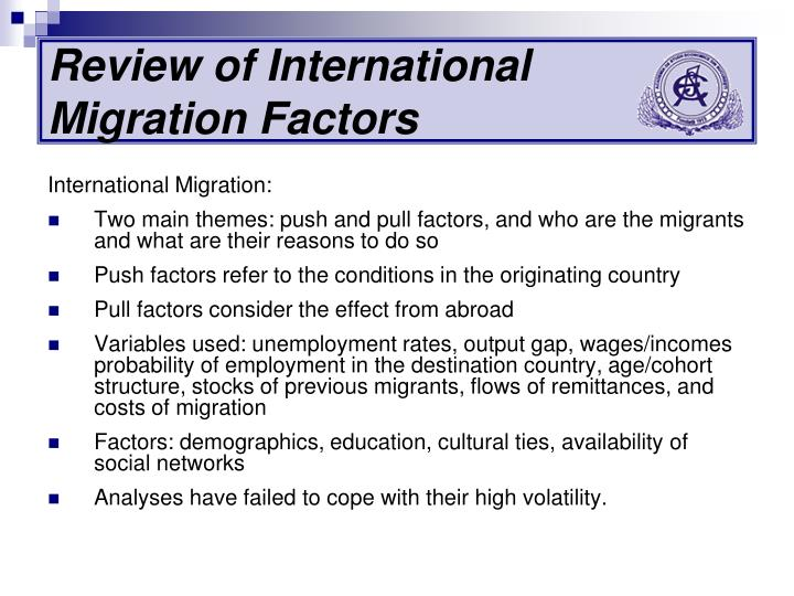 push and pull factors of migration from middle east Eastern european migrants since the end of the 1990s, yet another phase in portugal's immigration history has been underway, this one marked by the arrival of thousands of mostly undocumented immigrants from eastern europe, particularly ukraine, russia, moldova, and romania.
