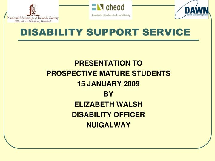 disability support service n.