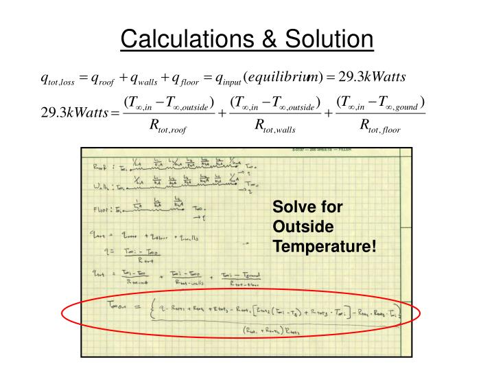 Calculations & Solution